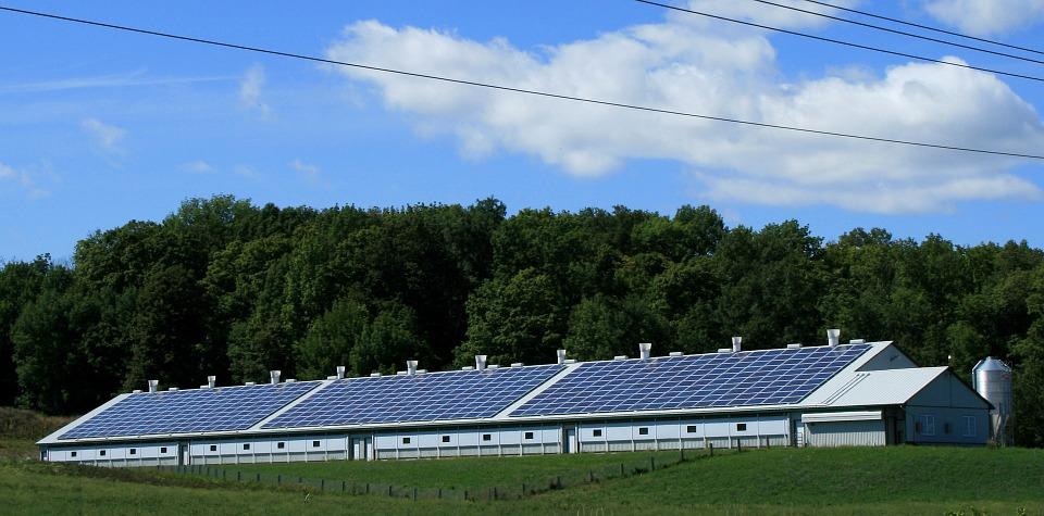 High capacity roof solar power plant