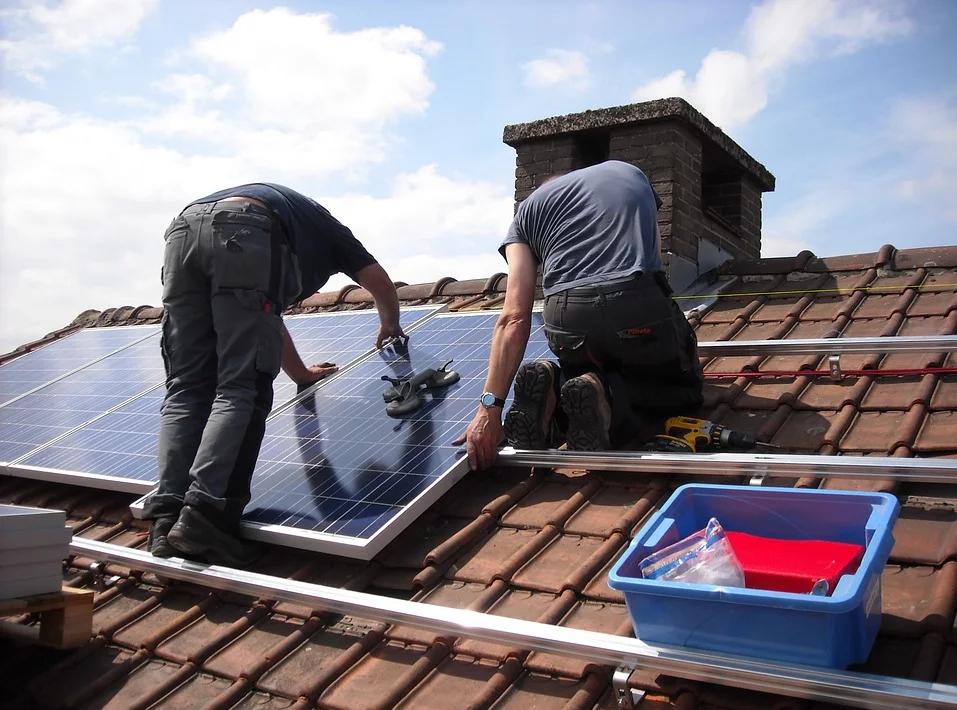 Assembling of roof solar power plant