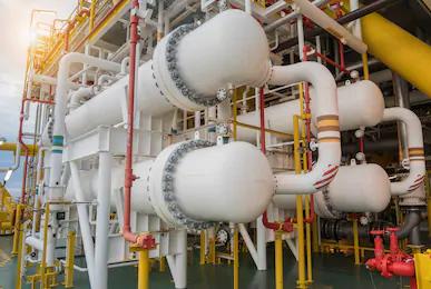 Газовый охладитель нефтеперерабатывающего завода